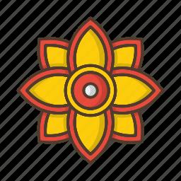 floral, flower, garden, nature, plant, sun icon