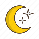 cloud, forecast, moon, night, weather icon