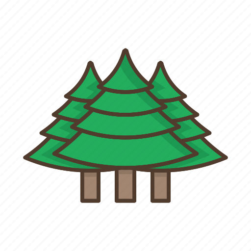 christmas, coniferous, forest, nature, plant, trees icon