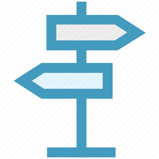 direction, direction board, navigation, road sign, street sign icon