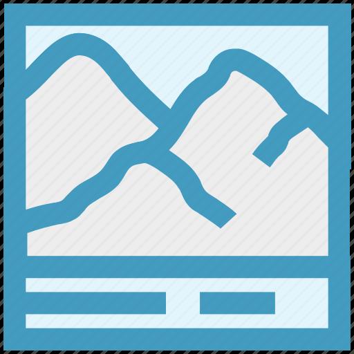 image, landscape, mountain, photo, picture icon
