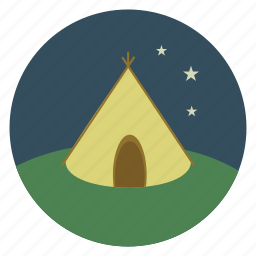 camp, camping, holiday, nature, summer, tent, vacation icon