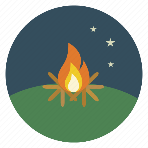 camp, campfire, fire, holiday, nature, summer, vacation icon