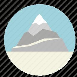 ice, mount, mountain, nature, rock, snow icon