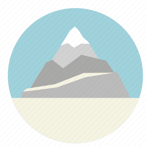 ice, mount, mountain, nature, rock, snow icon
