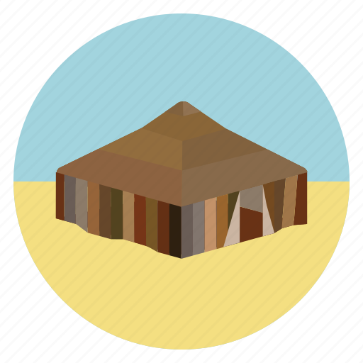 bedouine, bedouines, desert, hut, nature, nomad, tent icon
