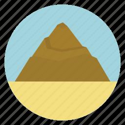 desert, mount, mountain, nature, rock, volcano icon