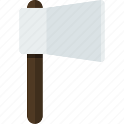axe, equipment, nature, survival, tool, wood cutter icon