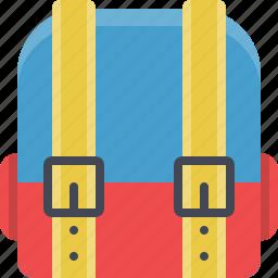 backpack, bag, education, learning, rucksack, school icon