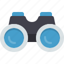binoculars, explore, find, magnifier, view, zoom icon