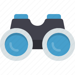 binoculars, explore, find, magnifier, view, zoom icon