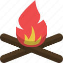 adventure, bonefire, campfire, fire, camping, expedition icon