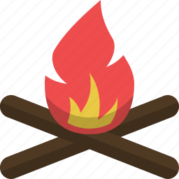 adventure, bonefire, campfire, camping, expedition, fire icon