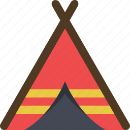 adventure, camp, camping, settlement, tent, tribal, tribe icon
