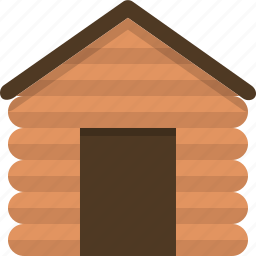 cabin, cottage, nature, settlement, village, wooden icon