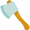 ax, axe, cutting, hand tool, lumber axe icon