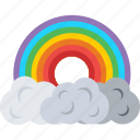 cloud, nature, rain, rainbow, weather icon