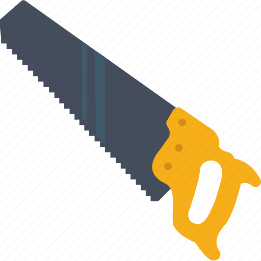 carpentry, construction, cutting, saw, tool icon