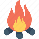 burning, campfire, camping, fireplace, flames