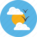 clouds, day, morning, sun, sunrise icon