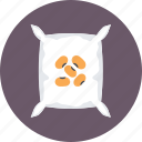 bag, fertilizer, sack, seed bag, seeds icon