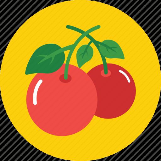 cherry, food, fruit, healthy, organic icon