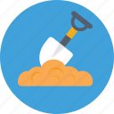 digging, garden tool, shovel, tools, trowel icon