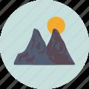 landscape, mountains, nature, scenery, sun