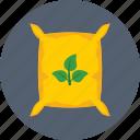 bag, fertilizer, sack, seed bag, seeds