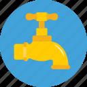 faucet, plumbing, spigot, tap, water tap icon