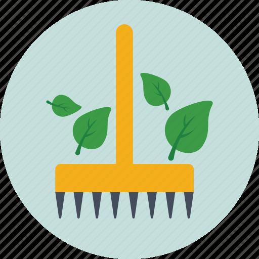agriculture, farming, garden tool, hayfork, rake icon