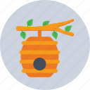 beehive, beekeeping, beeswax, honey, honeycomb icon