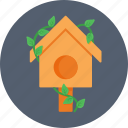 bird house, nest, nest box, pet, sparrow icon