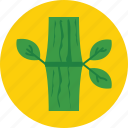bamboo, bamboo stick, leaf, nature, plant icon