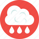cloud, rain drop, raining, sky, weather icon