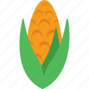 cob, corn, maize, organic, sweet corn icon