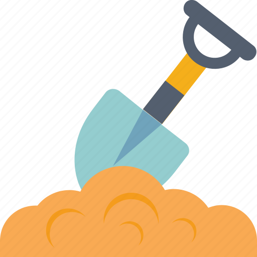 digging, garden tool, shovel, tools, trowel icon