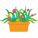 flower, garden, plant, pot, yard icon