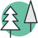 christmas trees, cypress tree, evergreen tree, fir tree, pine tree icon
