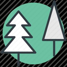 christmas trees, cypress tree, evergreen tree, fir tree, pine tree icon