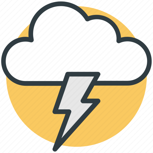 cloud lightning, power bolt, sky cloud, storm cloud, thunderstorm icon