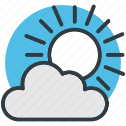 cloudy, pronostic, sunny cloud, sunrise, sunset, weather, winter icon