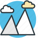 clouds, hills, mountains, nature, sky icon