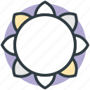 blooming, dandelion, flower, goldenrod, sunflower icon