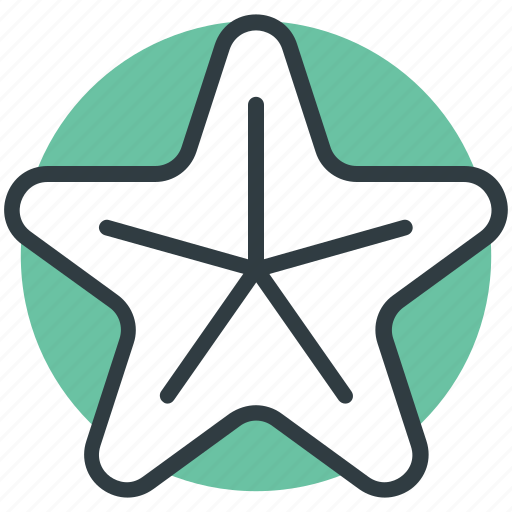 fingerfish, fish, sea life, sea star, starfish icon