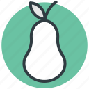 fruit, healthy diet, nutrition, pear, pomaceous icon