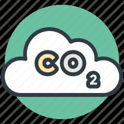 chemistry, cloud, oxygen, oxygen formula, science icon