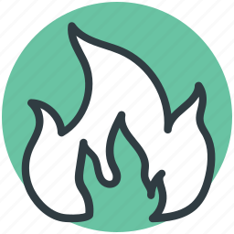 bonfire, burning, fire flame, hot, natural phenomenon icon