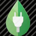 bio, concept, eco, electricity, plug icon