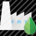 bio, eco, factory icon